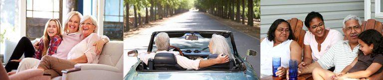 Retirees enjoying life.