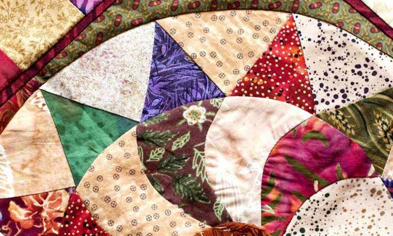 Pinwheel quilt pattern.